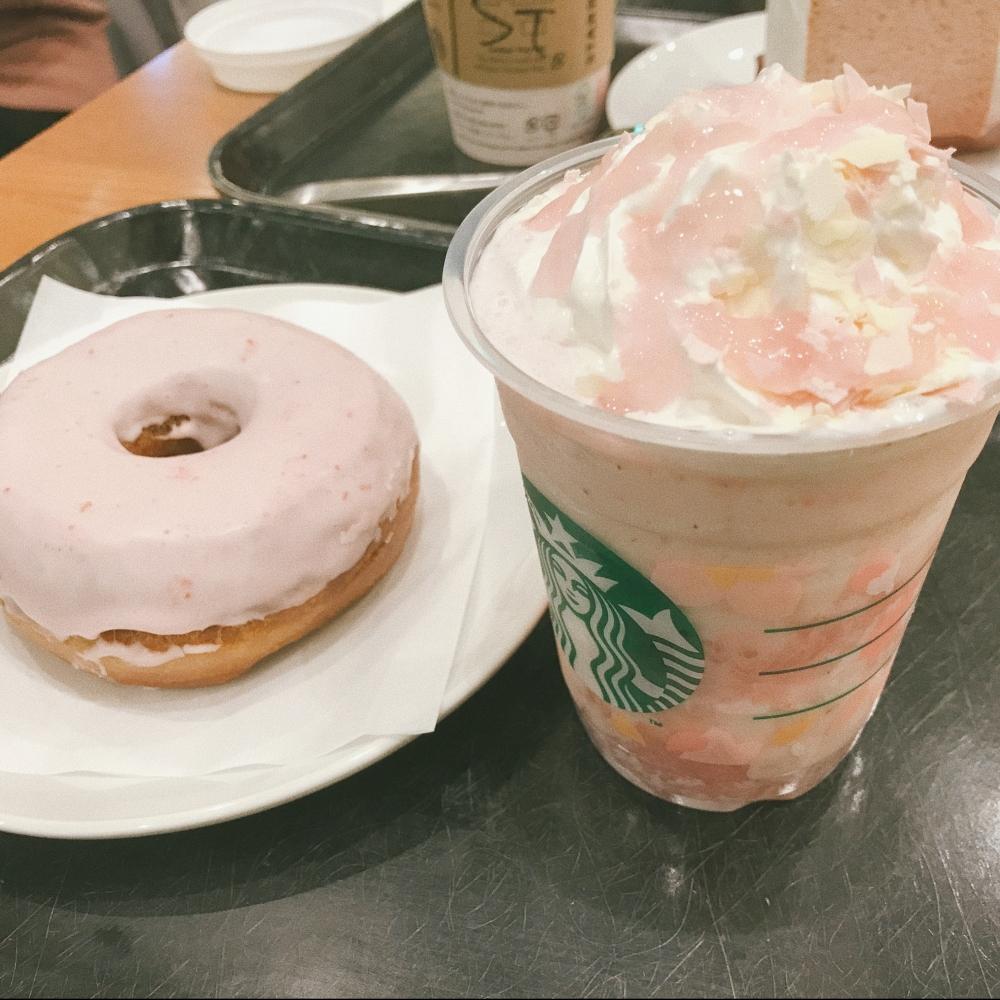 Sakura frappuccino from Starbucks